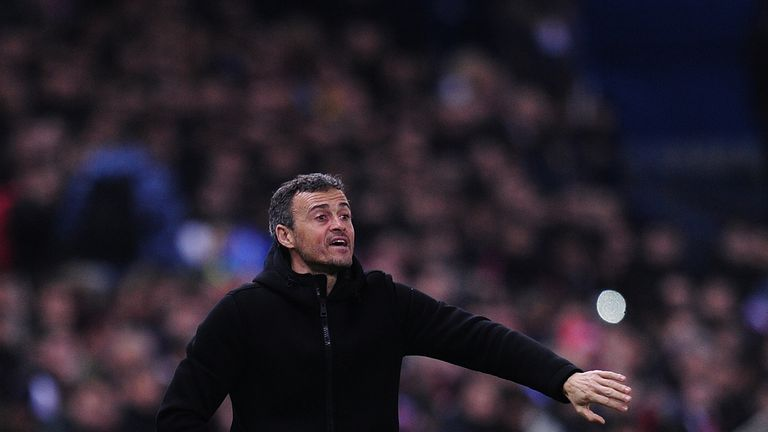 Luis Enrique won the treble with Barcelona in his first season