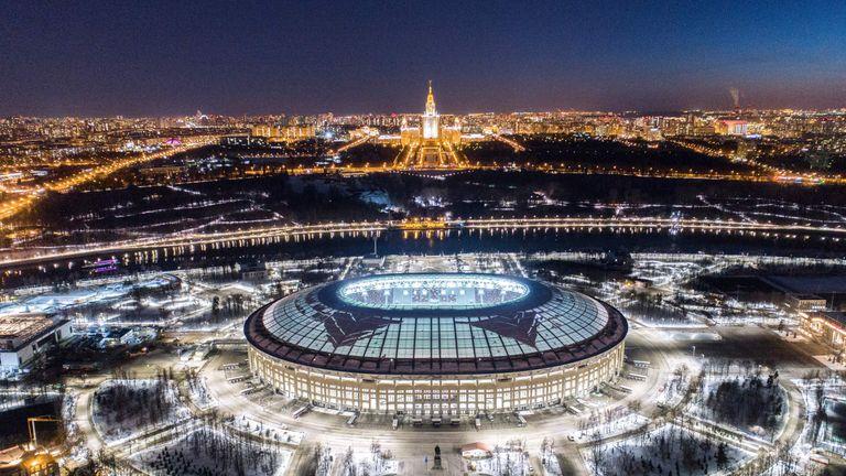 Luzhniki Stadium will stage this summer's World Cup final