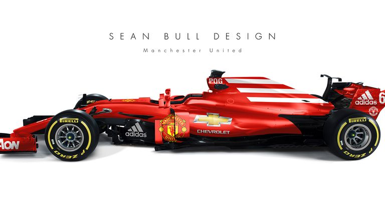 Charming An F1 Car   Given A Manchester United Twist!