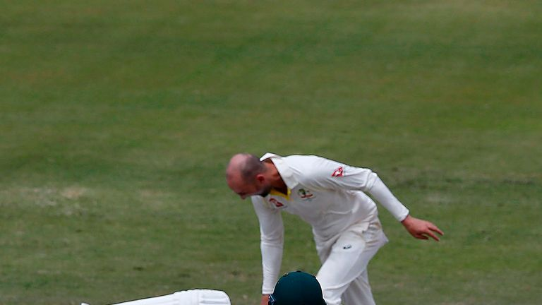 Lyon fined over De Villiers incident