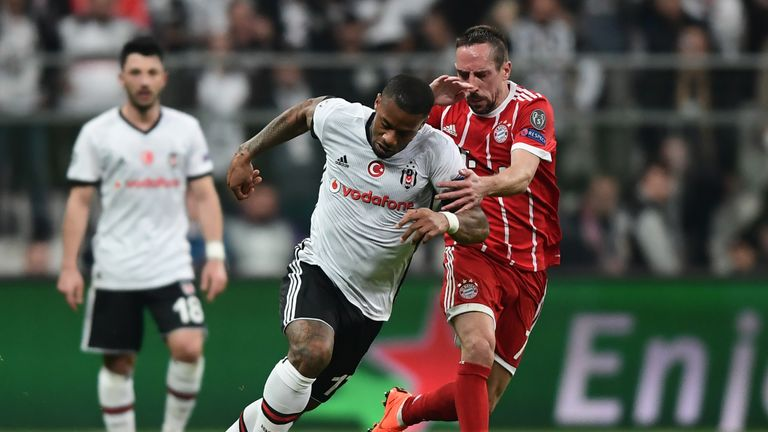 Franck Ribery (right) in action at the Vodafone Arena