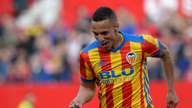 Rodrigo scored both goals as Valencia beat Sevilla