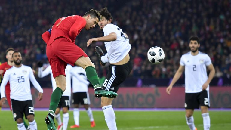 Cristiano Ronaldo's towering header earned a dramatic Portuguese victory over Egypt