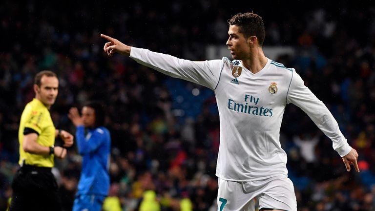 Cristiano Ronaldo scored his 300th La Liga goal in Real Madrid's win against Getafe