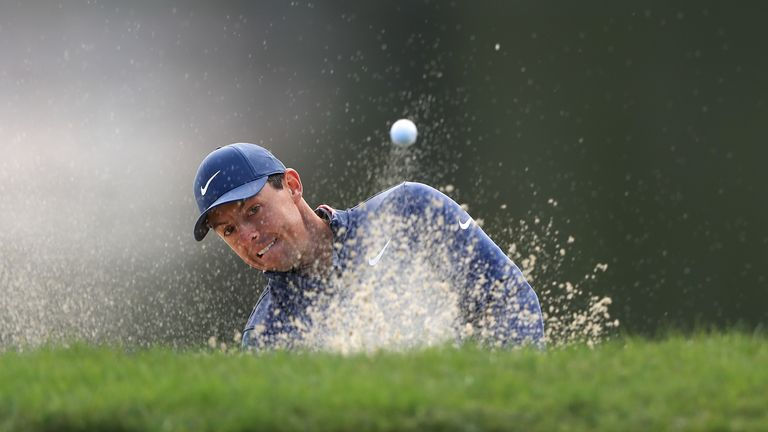 McIlroy had to scramble a number of pars throughout his round