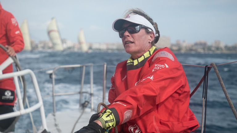 Carolijn Brouwer has taken part in all six legs of the Volvo Ocean race so far (Pic: Rich Edwards)