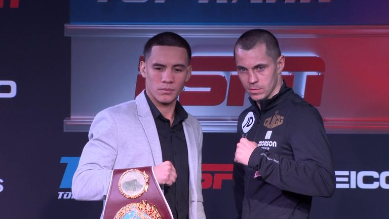 Scott Quigg (right) and Oscar Valdez