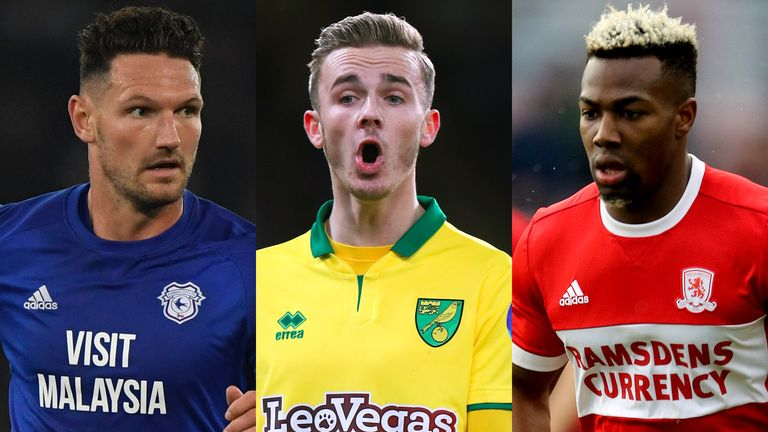 Cardiff's Sean Morrison, Norwich's James Maddison and Middlesbrough's Adama Traore feature in the Sky Bet Championship February Team of the Month