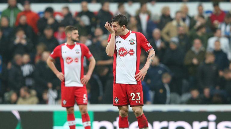 Pierre-Emile Hojbjerg during the game at St James' Park
