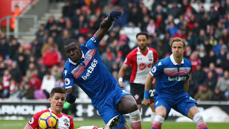 Kurt Zouma impressed with another imperious display at the back for Stoke