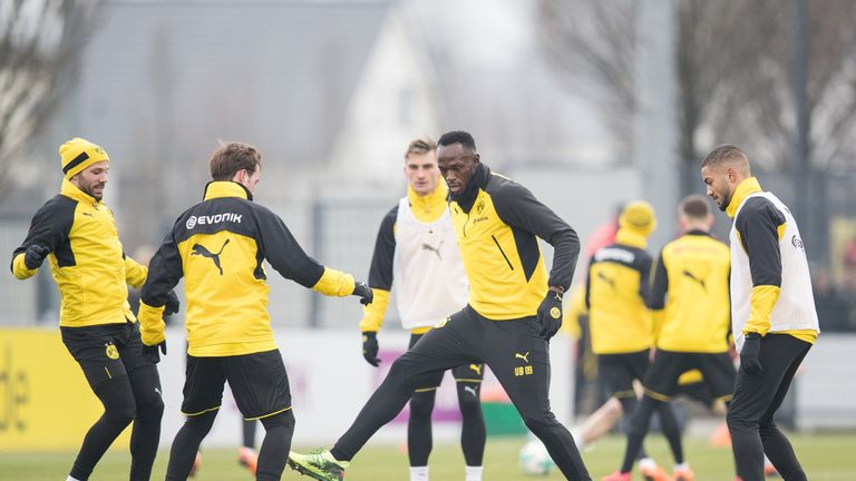 Bolt trained with Borussia Dortmund in March