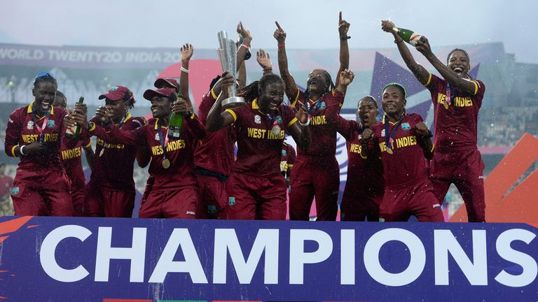 West Indies best Australia to win the 2016 Women's World T20 in India