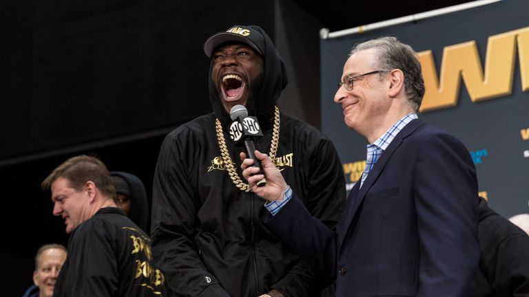 Deontay Wilder is due to attend the Joshua-Parker fight in Cardiff