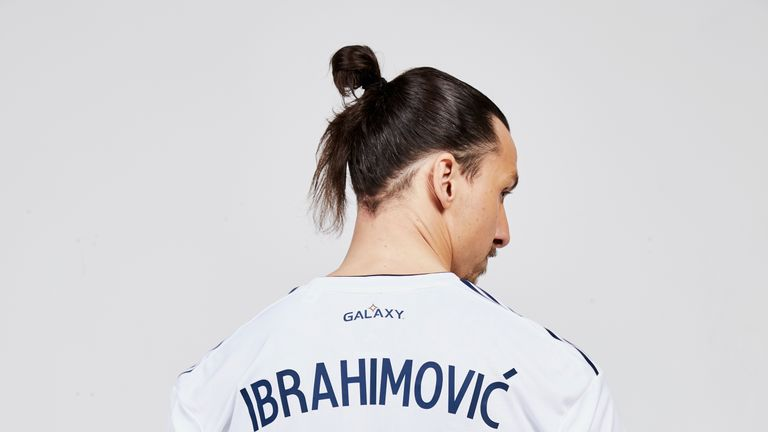 The Swedish striker will wear the number nine shirt for Galaxy