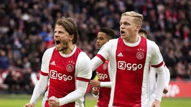 fifa live scores - Eredivisie round-up: Five-star Ajax enjoy anniversary celebrations with win against Sparta Rotterdam