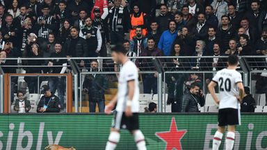 fifa live scores -                               UEFA charge Besiktas over cat on pitch