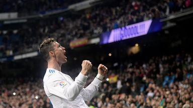 Cristiano Ronaldo scored four against Girona