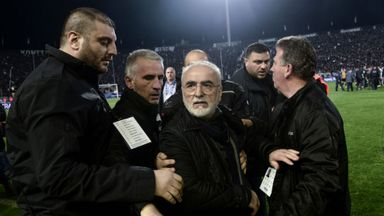 fifa live scores - PAOK Salonika president Ivan Savvidis apologises over Sunday pitch invasion