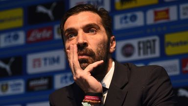 Gianluigi Buffon is in Manchester for Friday's friendly against Argentina