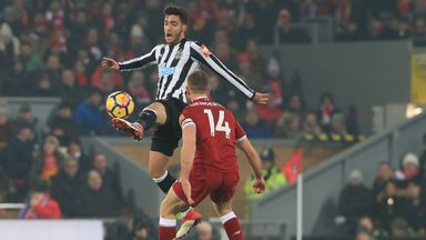 Mikel Merino in action for Newcastle