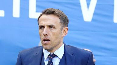 fifa live scores - England Women's manager Phil Neville calls David Beckham visit 'special'