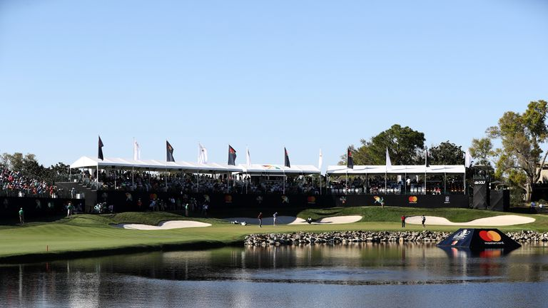 The 18th at the Arnold Palmer Invitational Presented By MasterCard at Bay Hill Club and Lodge on March 18, 2017 in Orlando, Florida.