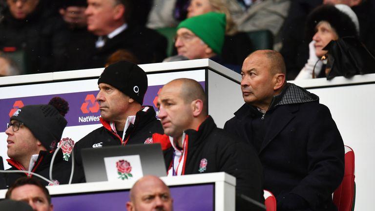 Eddie Jones  looks on as Ireland beat England at Twickenham