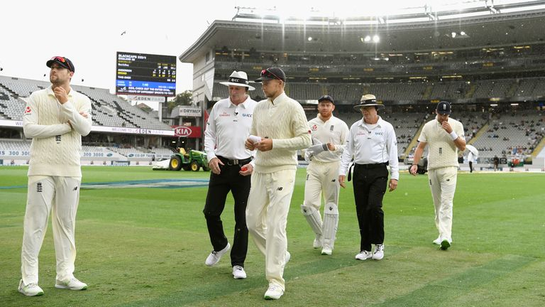during day three of the First Test Match between the New Zealand Black Caps and England at Eden Park on March 24, 2018 in Auckland, New Zealand.