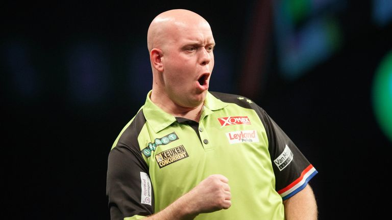 The Unibet Premier League at The SSE Hydro in Glasgow from the game between Michael van Gerwen and Michael Smith.