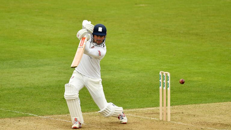 Alastair Cook scored 84 for Essex against Hampshire at The Ageas Bowl, reaching his fifty from 84 deliveries