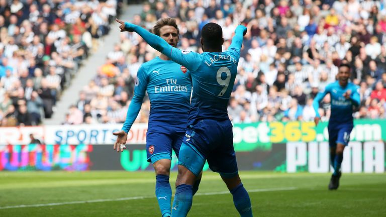 Alexandre Lacazette opened the scoring for Arsenal at St James' Park