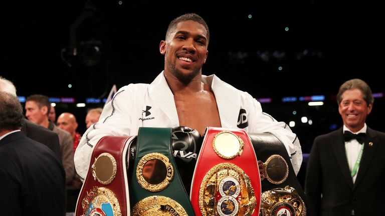Anthony Joshua already owns three of the four major belts