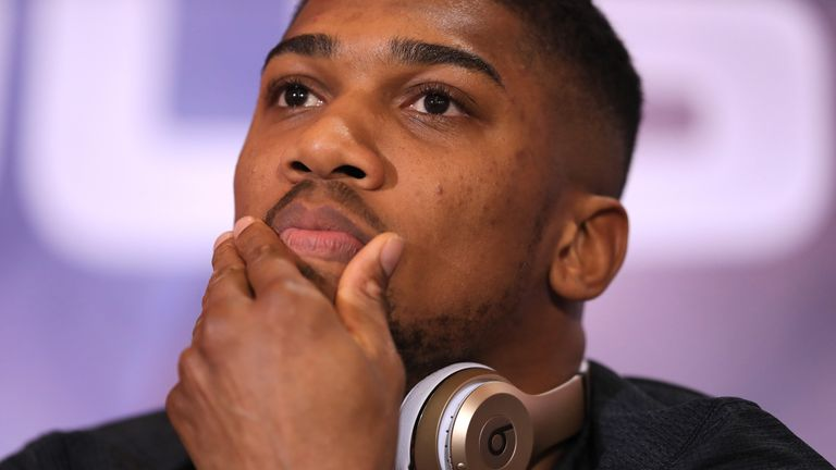 I would rather lose than dope, says Anthony Joshua
