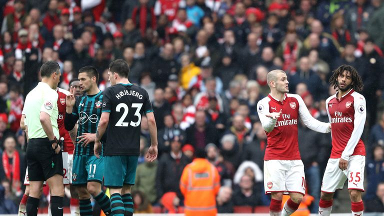 Arsenal are currently in a fight to stay in sixth in the Premier League