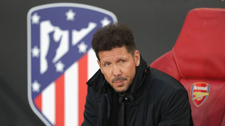 Diego Simeone's Atletico face Arsenal having drawn 1-1 in the first leg