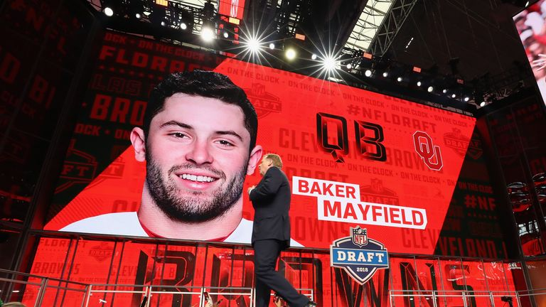 Mayfield is the top National Football League pick; Rudolph, Washington to Steelers