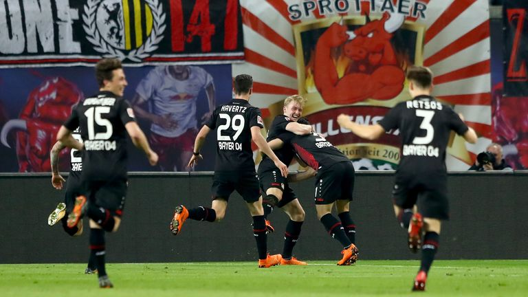 Three Bayer Leverkusen teenagers got on the scoresheet in their 4-1 win over RB Leipzig