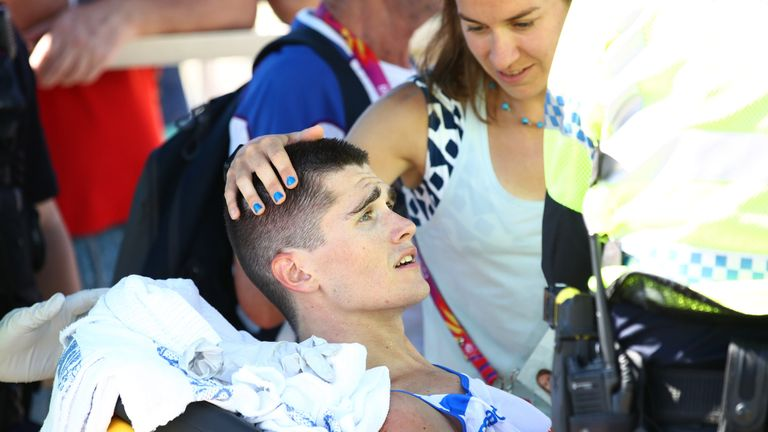 Callum Hawkins looked set for marathon glory before collapsing
