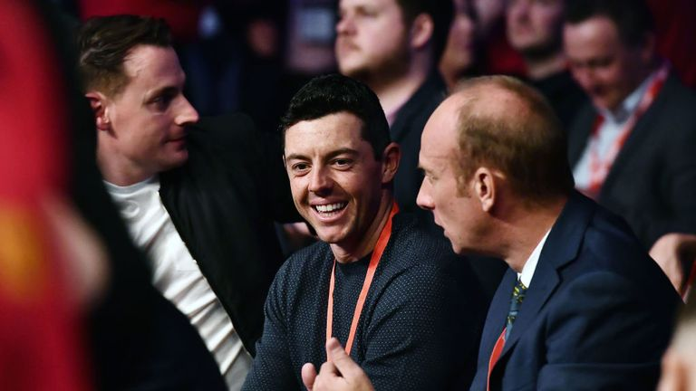 Fight fan Rory McIlroy was ringside to see his fellow Northern Irish star in action
