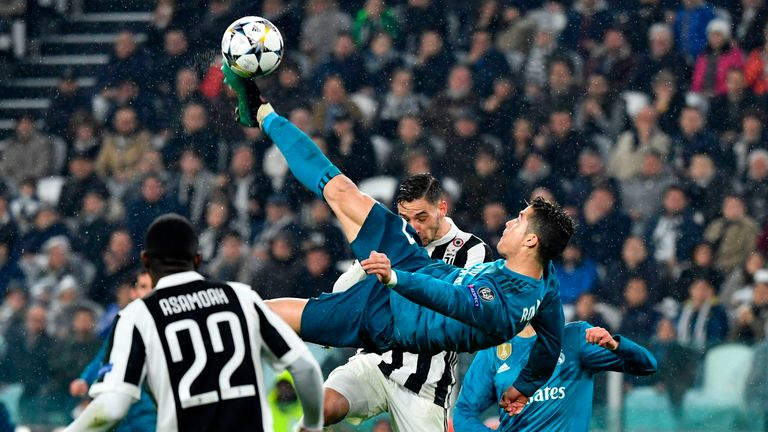 Ronaldo's incredible overhead kick doubled Real Madrid's lead