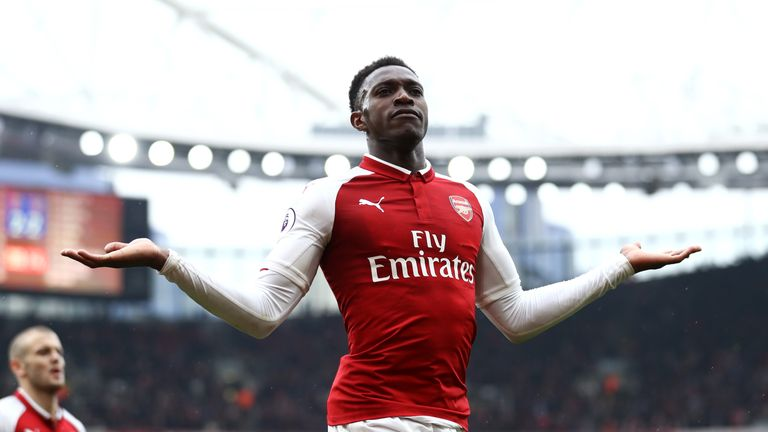 Danny Welbeck celebrates scoring  Arsenal's winner against Southampton