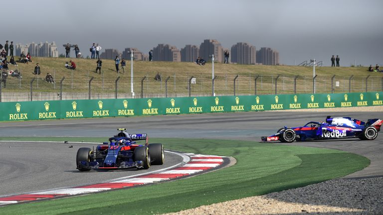Pierre Gasly and Brendon Hartley say 'miscommunication' caused Chinese GP collision