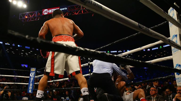 The referee saved Jesus Cuellar as Gervonta Davies unleashed in the third
