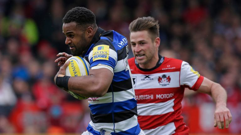 Aled Brew scores Bath's third try at Gloucester