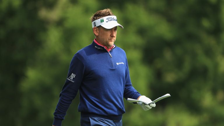 Ian Poulter finished on four over at the Masters