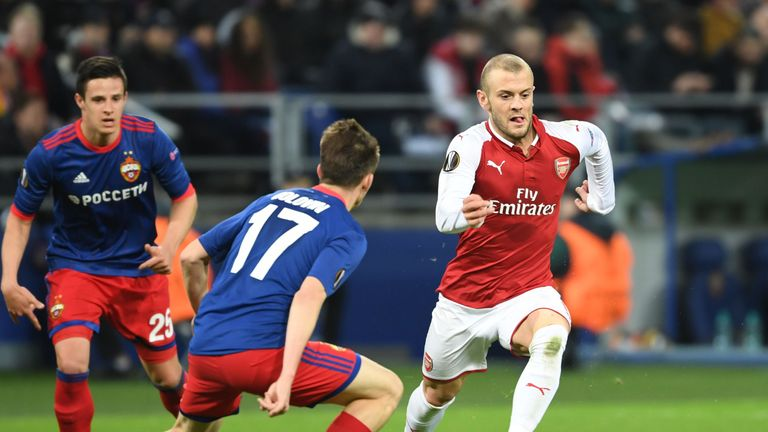 Jack Wilshere, who missed the final two games of Arsenal's season, is sweating on his place