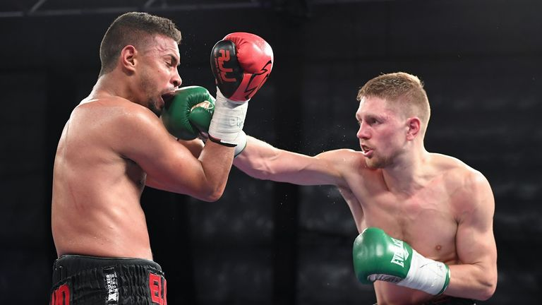 Jason Quigley ended a 12-month injury absence with knockout win at the weekend in Boston (Pics courtesy of Matt Heasley/HoganPhotos)