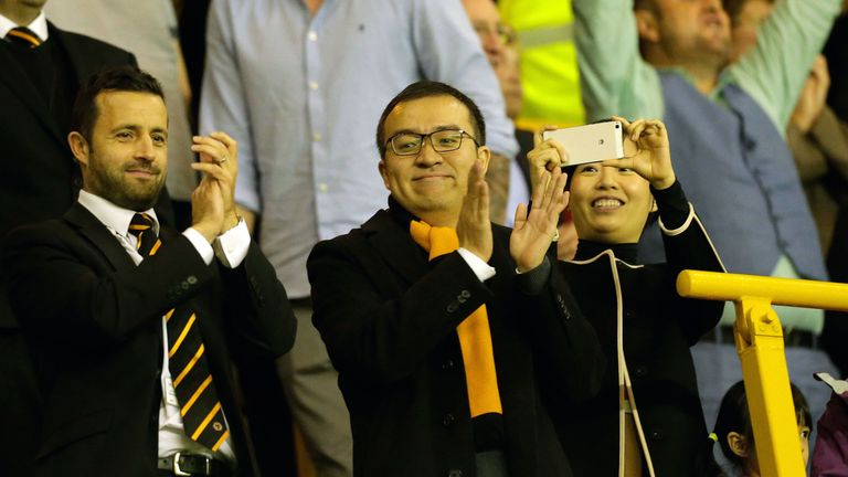 Wolves managing director Laurie Dalrymple (left) says the club are 'thrilled' at sealing promotion to the Premier League