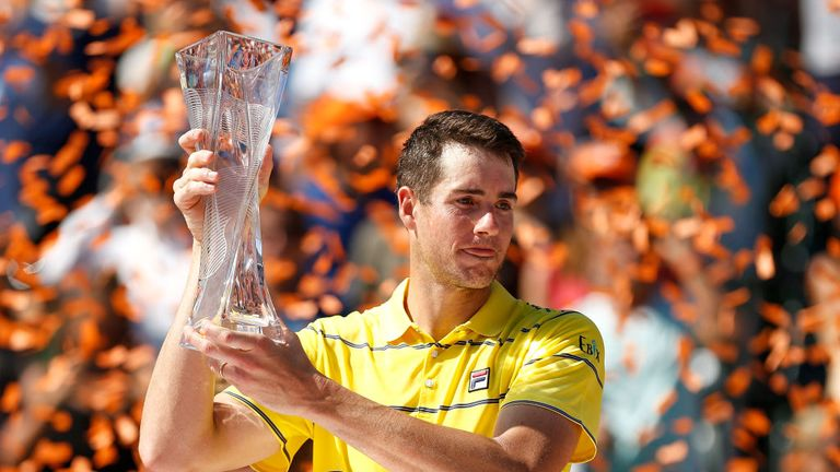 John Isner won his biggest career title earlier this year when he lifted the Miami Open trophy