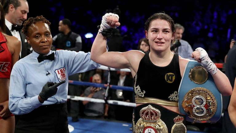 Katie Taylor is now a dual world champion at lightweight